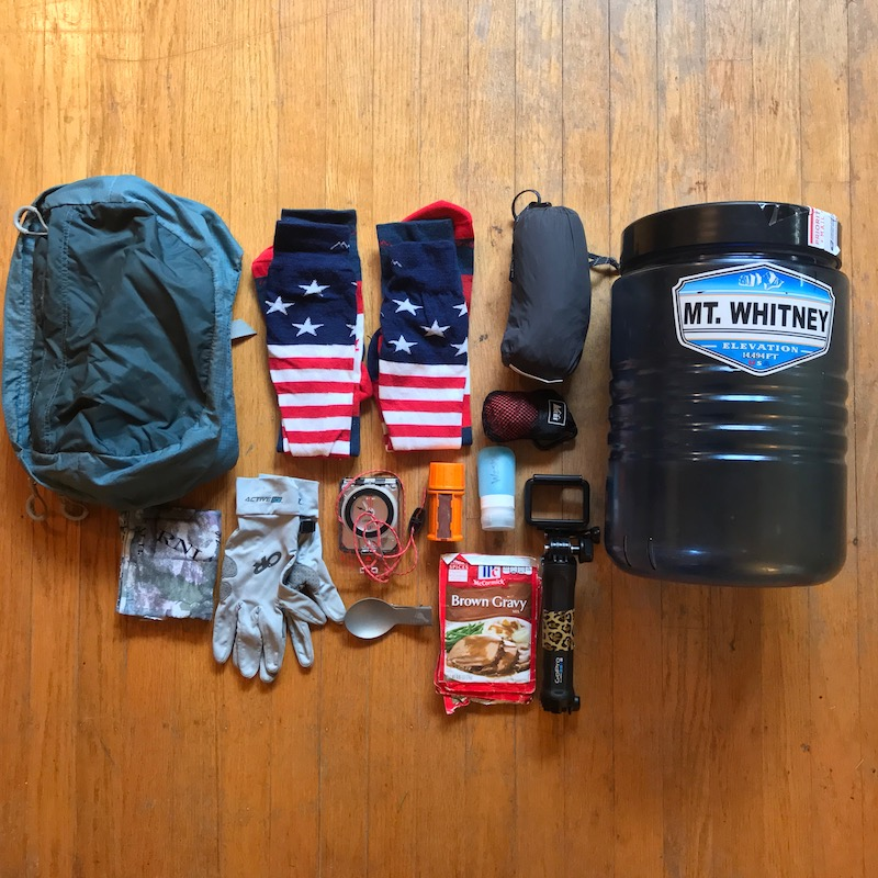 PCT 2018 Gear I Sent Home