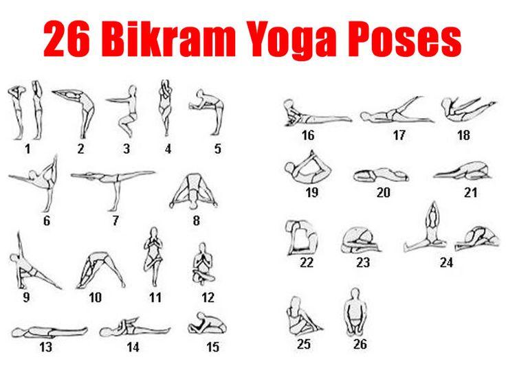 26 Bikram Yoga Postures