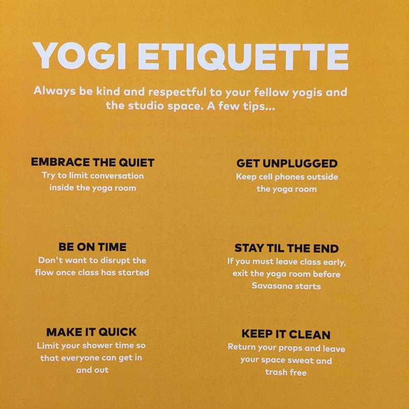 Etiquette In The Yoga Room