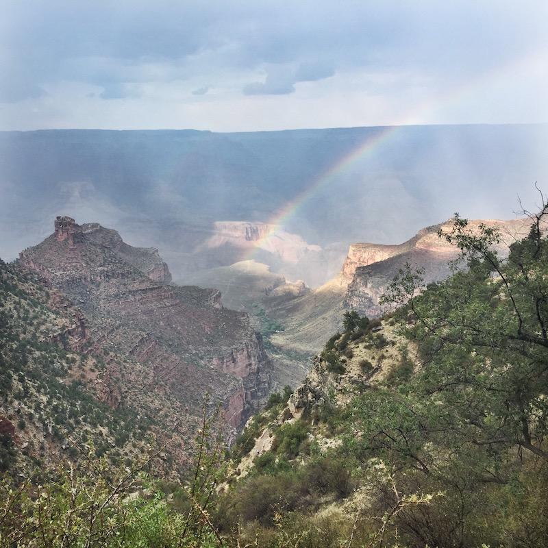 Rainbow Over South Rim